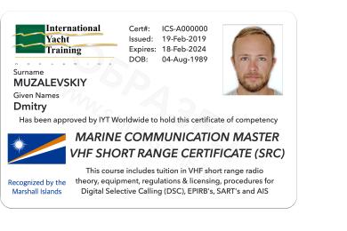 VHF Radio Operator IYT