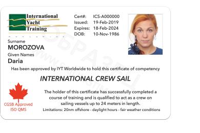 Competent Crew Sail IYT + Log Book